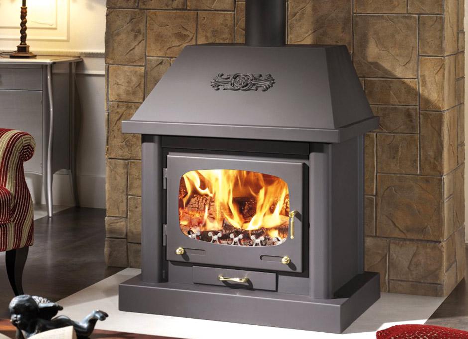 Estufas de gas radiante calefaccin por biomasa estufa de lea para calentar la casa y el acs - Chimeneas de peles ...