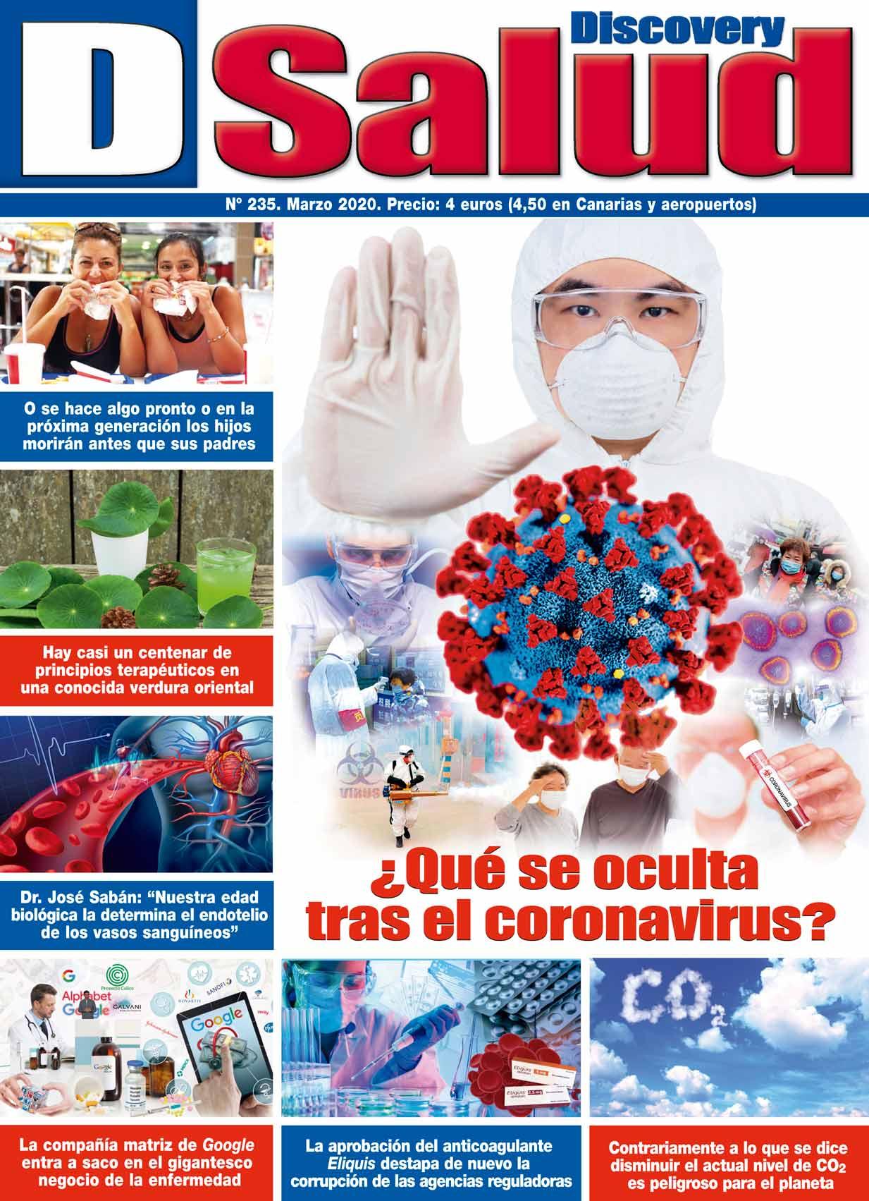 Último número Marzo 2020 de la revista mensual Discovery DSalud