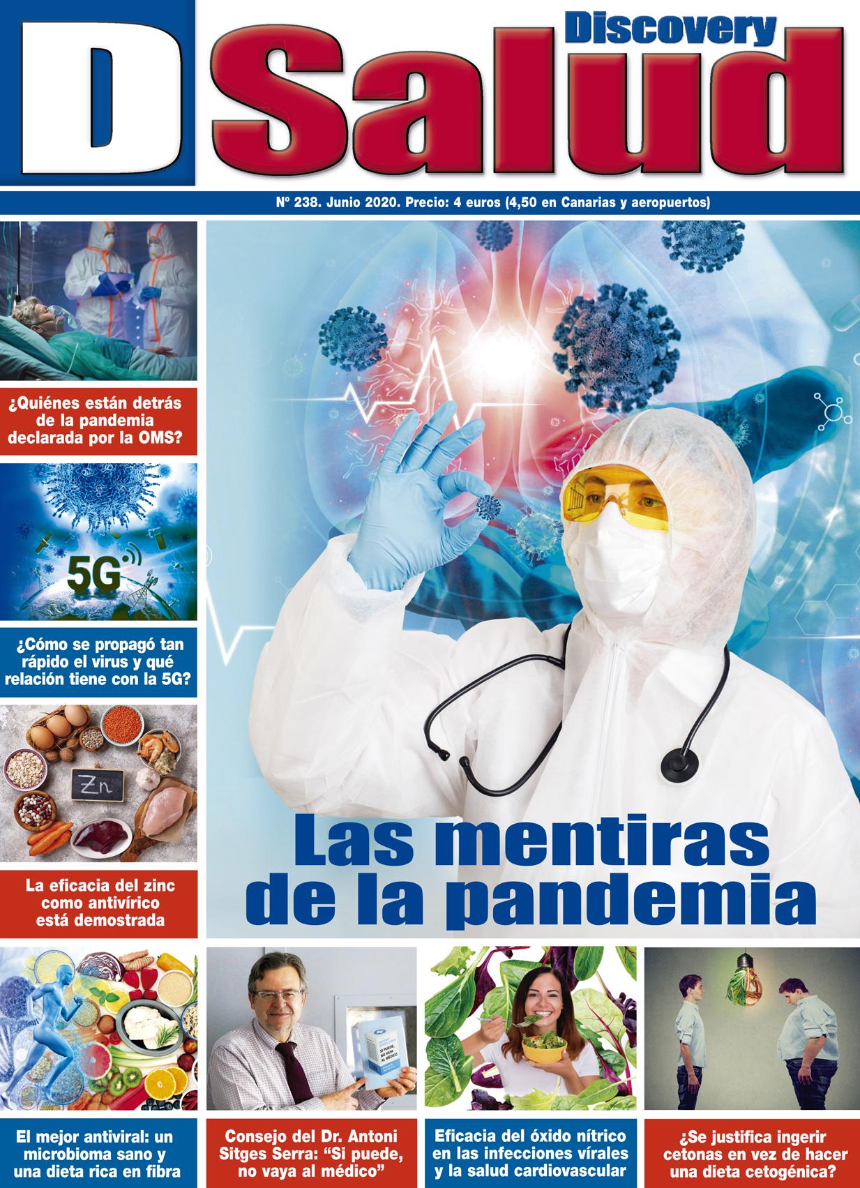 Último número Junio 2020 de la revista mensual Discovery DSalud