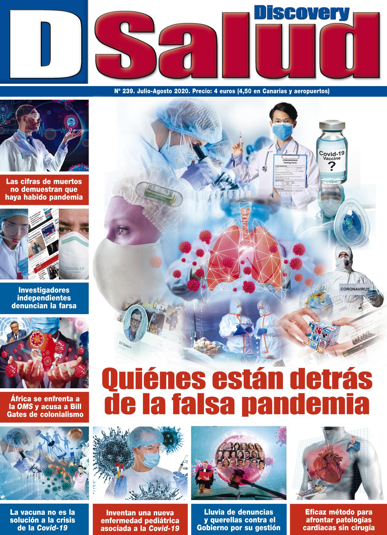 Último número Julio-Agosto 2020 de la revista mensual Discovery DSalud