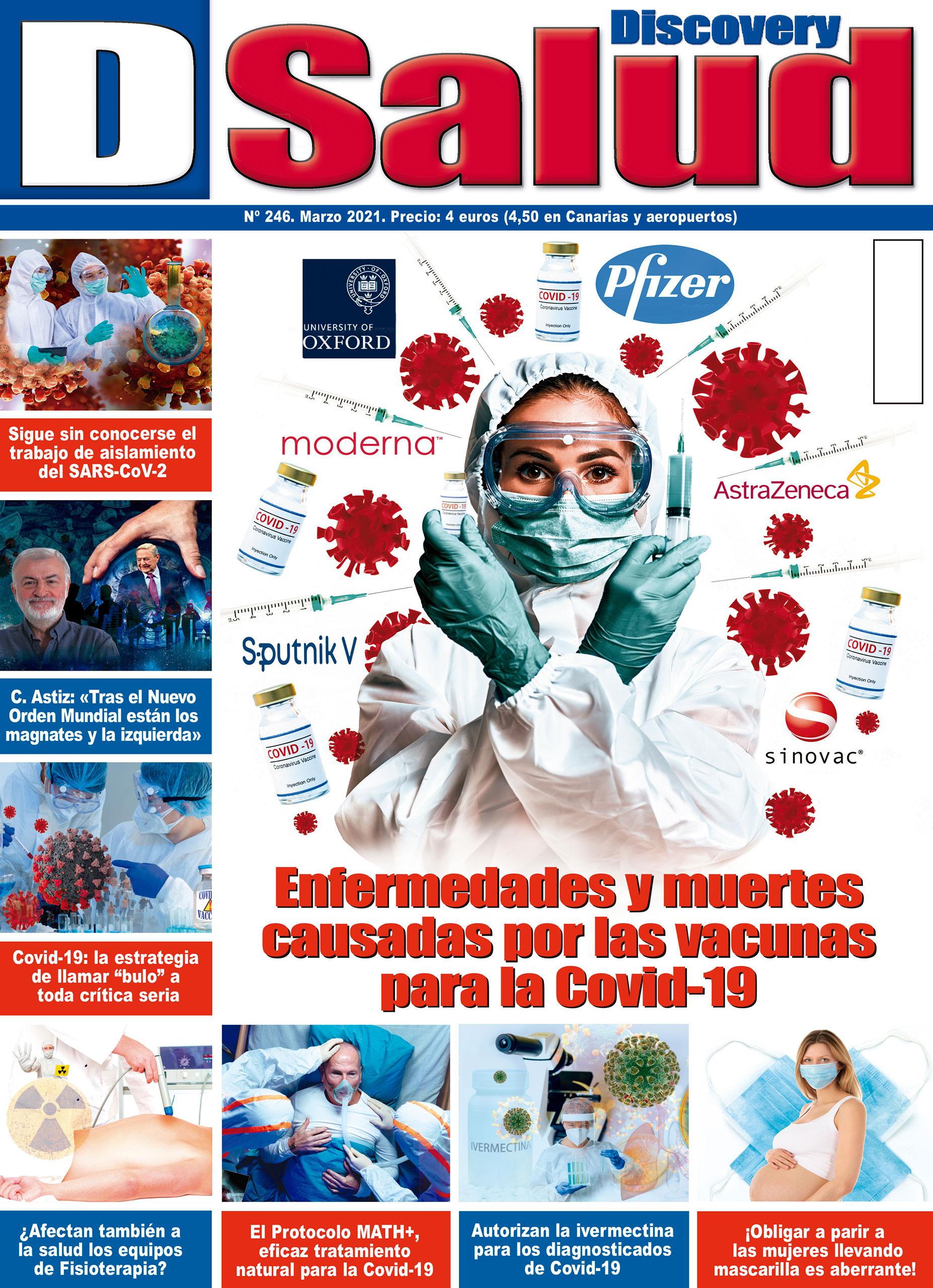 Último número Marzo 2021 de la revista mensual Discovery DSalud